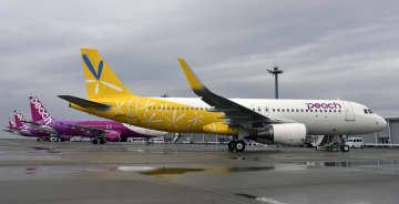 「黄色」のピーチ機運航 改修遅れ、旧バニラ仕様に 画像1