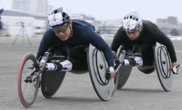 車いすマラソン男子、洞ノ上優勝 女子は喜納 画像1