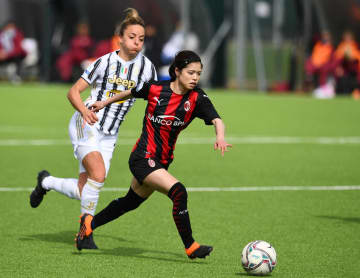 ACミランの長谷川唯、フル出場 サッカー、イタリア女子 画像1
