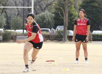 ラグビー松田「成長へ貪欲に」 7人制女子が代表候補合宿 画像1