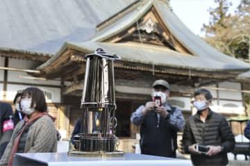 五輪聖火、平泉・中尊寺に展示 震災10年、犠牲者法要 画像1
