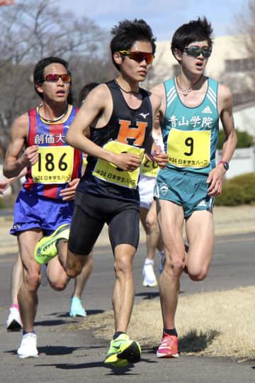男子は法大の鎌田が優勝 学生ハーフマラソン 画像1