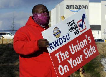 米アマゾン、初の労組結成か 大統領支援、会社側と攻防激化 画像1