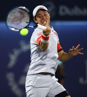 錦織圭、今季2度目の8強入り 男子テニスのドバイ選手権 画像1
