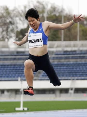 女子走り幅跳び、兎沢朋美が優勝 パラ陸上日本選手権、最終日 画像1
