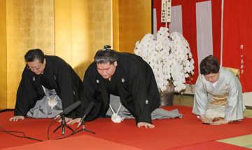 照ノ富士が大関復帰 21場所ぶり、口上短く 画像1