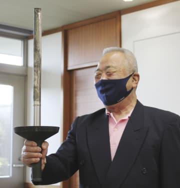 64年のランナーとトーチ再会 愛知・豊橋、57年ぶり 画像1