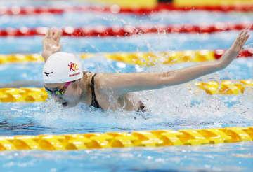 池江璃花子、100mバタ決勝へ 日本選手権準決勝3位 画像1