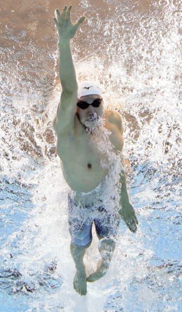 男子200自由の松元は2位通過 100背泳ぎは入江、酒井1位 画像1