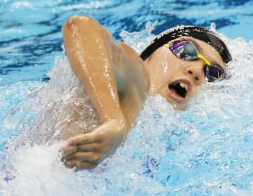 小堀と難波、400自由で五輪へ 平泳ぎの佐藤、リレーで代表入り 画像1