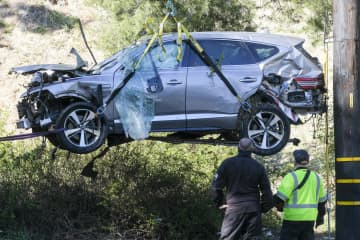 ウッズ選手事故は速度超過 130キロ超で走行と米当局 画像1