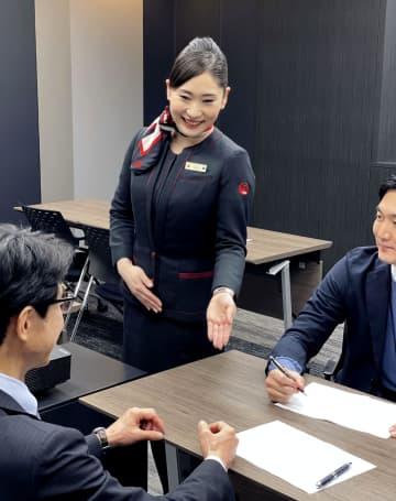 日航の客室乗務員がマナー伝授 企業向けに事業化 画像1