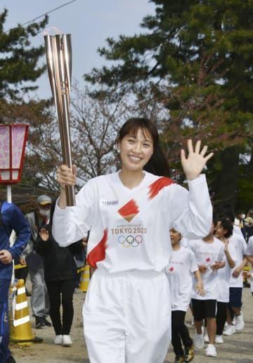 東京五輪聖火リレー、熊野古道へ 浅尾さん「静かな応援感動した」 画像1