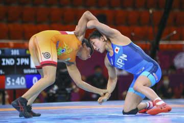 須崎優衣、1位で初の五輪 レスリング、アジア予選 画像1