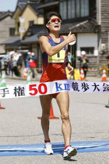 競歩、丸尾が初優勝し五輪代表に 日本選手権50キロ 画像1