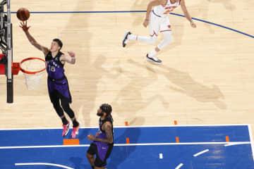 ラプターズ渡辺雄太は8得点 NBA、ニックス戦に途中出場 画像1