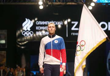ロシア五輪委、選手ウエアを発表 国旗と同じ白、青、赤使用 画像1