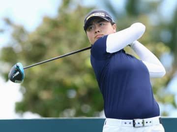 米女子ゴルフ、笹生が単独首位 ロッテ選手権第2日 画像1