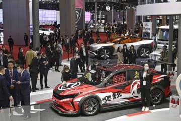 上海モーターショー開幕 日系企業、最新EV披露 画像1