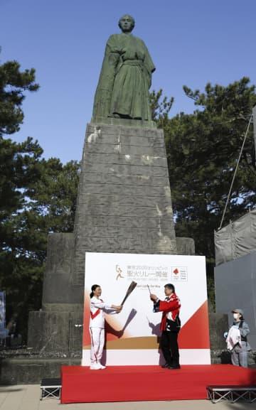 聖火、高知の龍馬像をスタート 全国13府県目 画像1