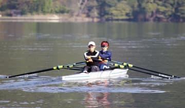 ボート、五輪予選へ強化合宿公開 冨田は仕上がりに手応え 画像1