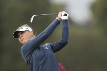 女子ゴルフ、コルダが首位キープ ヒューゲルLAオープン第3日 画像1