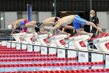 パラ競泳、本番会場でテスト大会 選手50人参加、木村ら初泳ぎ 画像1