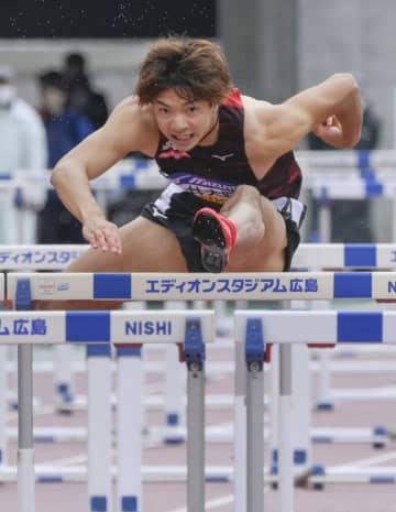 陸上の障害決勝、男女とも日本新 織田記念、金井と寺田 画像1