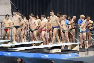 五輪飛び込み、練習で選手「密」 最終予選とテスト大会兼ねたW杯 画像1
