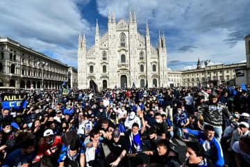 インテル・ミラノ11季ぶり優勝 サッカー、イタリア1部 画像1