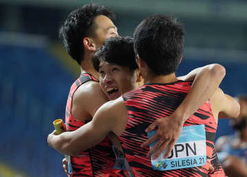 日本、男子1600メートルで銀 陸上世界リレーで初メダル 画像1