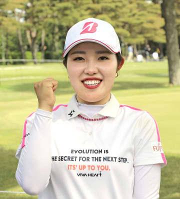 古江彩佳が四大大会制覇に意欲 サロンパス女子ゴルフ 画像1