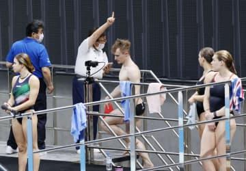 厳戒「バブル」に限界も 飛び込みの五輪テスト大会 画像1