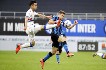 サンプドリア吉田は後半から出場 イタリア1部リーグ 画像1