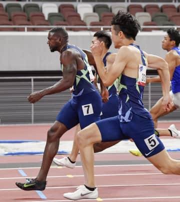 100mはガトリンV、多田2位 陸上の五輪テスト大会 画像1
