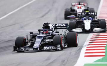 F1角田、初のリタイア スペインGP決勝 画像1