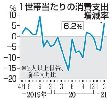 20年度の消費支出4.9%減 過去2番目、コロナ影響 画像1