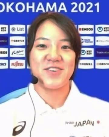 高橋侑子選手「いいイメージ」 トライアスロン横浜大会 画像1