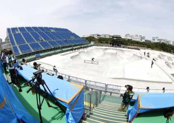 スケボー、五輪テスト大会開催 本番会場の新設コースで 画像1