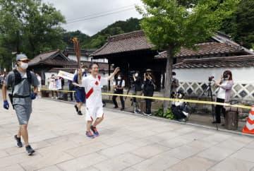 聖火、島根・津和野から出発 知事は一転容認、山陰の小京都 画像1
