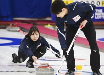 カーリング、日本は敗れ3勝3敗 混合ダブルス世界選手権 画像1