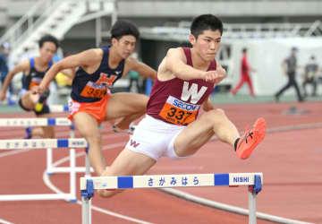400障害、山内と黒川が決勝へ 関東学生対校陸上 画像1