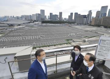 橋本会長、五輪車両基地を視察 「着実に準備進める」 画像1