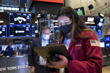 NY株反落、81ドル安 短期的な過熱感から売り 画像1