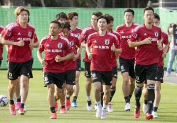 日本代表、非公開で戦術確認 W杯ミャンマー戦に向け 画像1