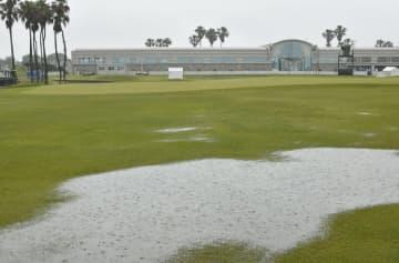 ゴルフ、ミズノOP第1日は中止 大会は54ホールに短縮 画像1