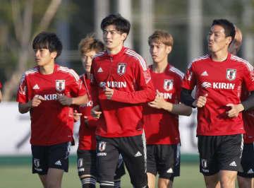 サッカー日本代表に国内組が合流 国際親善ジャマイカ戦向け練習 画像1