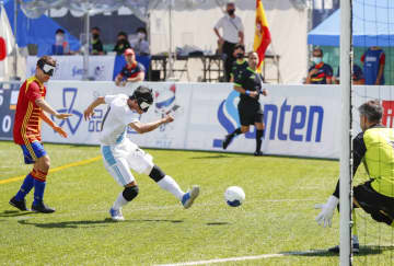 日本、スペインと引き分け 視覚障害5人制サッカー国際大会 画像1
