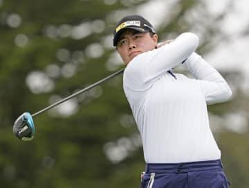 笹生が首位に、畑岡9位 全米女子オープンゴルフ第2日 画像1