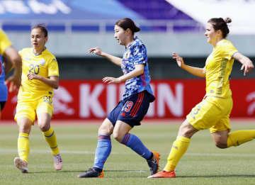 なでしこが8得点で大勝 サッカー女子国際親善試合 画像1